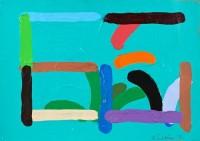 5 ¾ x 8 ¼″ acrylic on paper